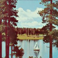 湖上のヨット